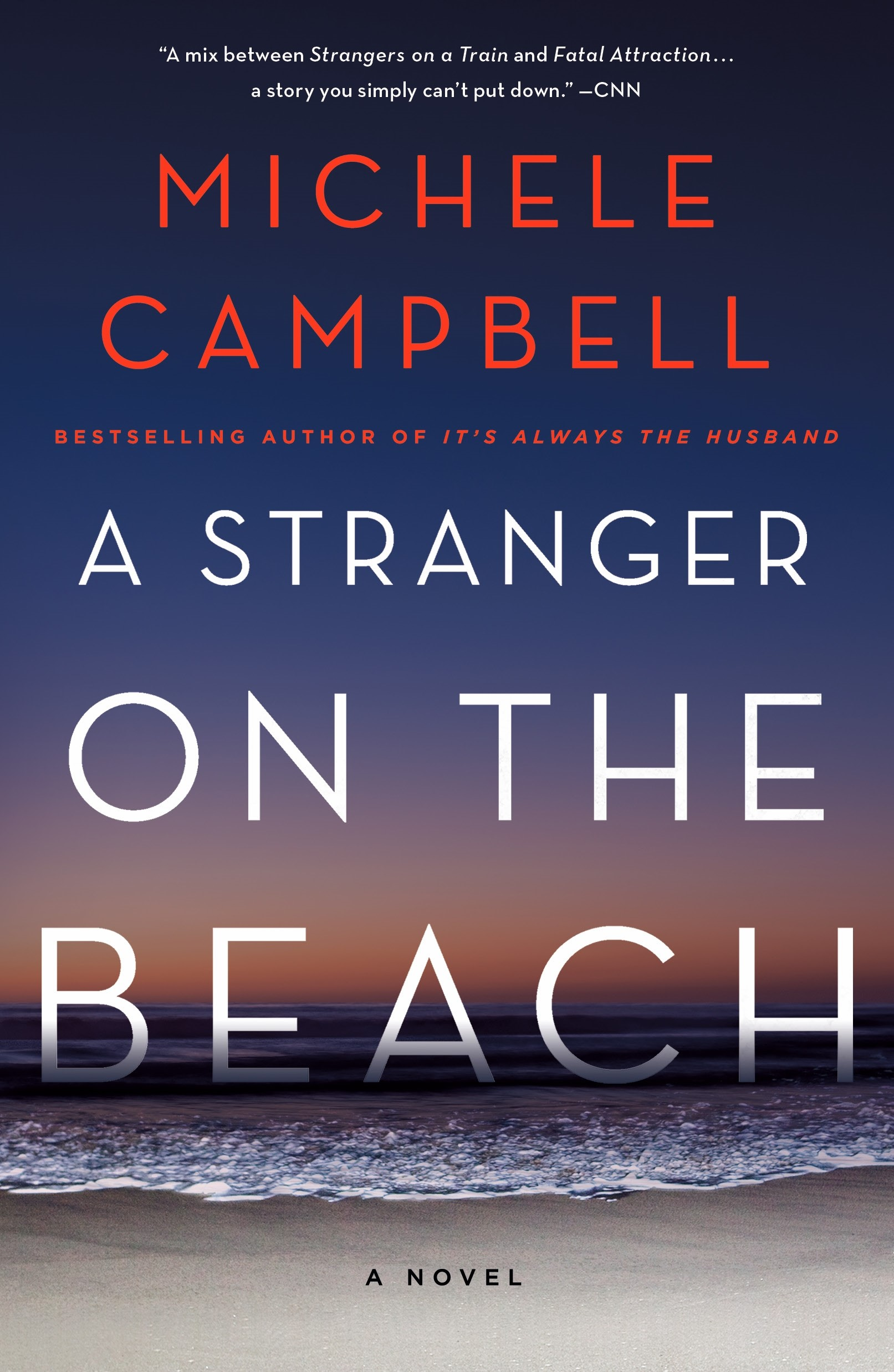A Stranger on the Beach, by Michele Campbell, hi-res version